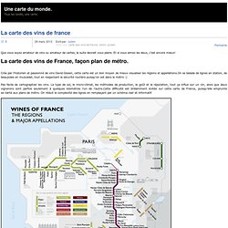 La carte des vins de France
