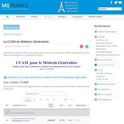 La CCAM du MG