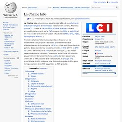 LCI - La Chaîne Info