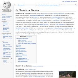 Wikipédia - La Chanson de Craonne