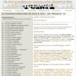 La Chanson française en 50 chansons