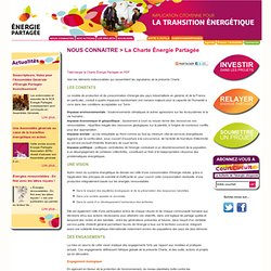 La Charte Énergie Partagée