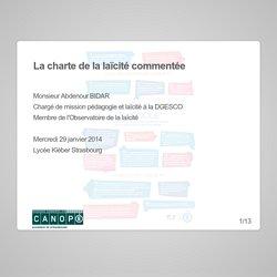 La charte de la laïcité, commentée par Abdennour Bidar