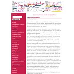 La charte sémantique