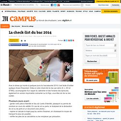 La check-list du bac 2014 proposé par Lemonde.fr