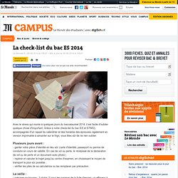 La check-list du bac ES 2014