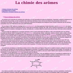 La chimie des arômes