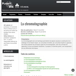 La chromatographie – Planet Vie