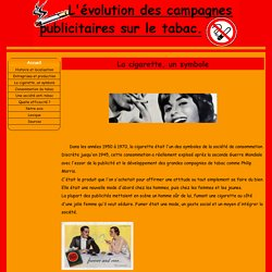 La cigarette, un symbole