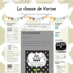 La classe de Karine: 1er cycle