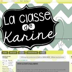 La classe de Karine: 2014-2015