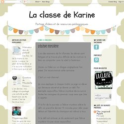 La classe de Karine: L'élève mystère