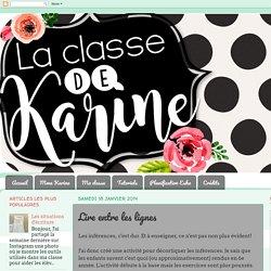 La classe de Karine: Lire entre les lignes