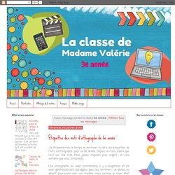 La classe de Madame Valérie: 5e année
