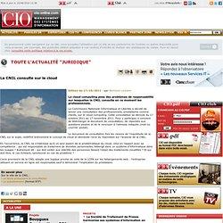 La CNIL consulte sur le cloud