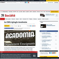 La CNIL épingle Acadomia