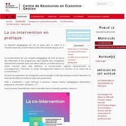 La co-intervention en pratique - Centre de Ressources en Économie-Gestion