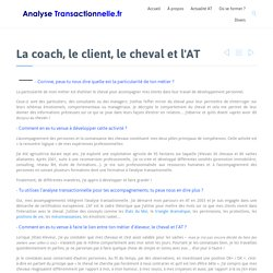 La coach, le client, le cheval et l'AT