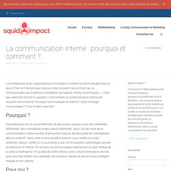 La communication interne: le média de la culture d'entreprise