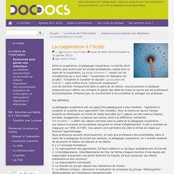 Coopération à l'école_pédagogie coopérative_doc pour docs