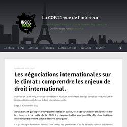 La COP.21 vue de l'intérieur