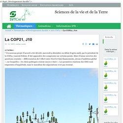 La COP21, J10