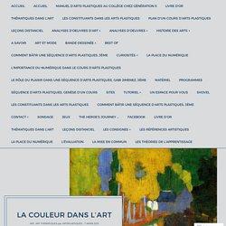 La couleur dans l'art – Arts Plastiques