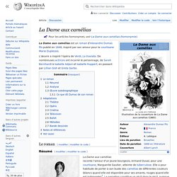 La Dame aux camélias / Wikipedia