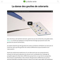 La danse des gouttes de colorants