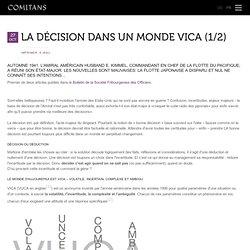 La décision dans un monde VICA (1/2)
