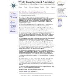 La Déclaration transhumaniste