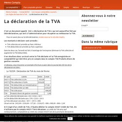 La déclaration de la TVA