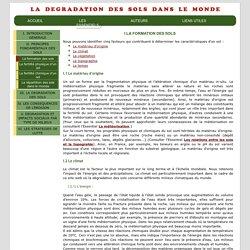 La dégradation des sols dans le monde