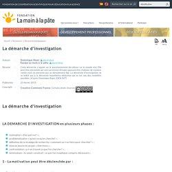 La démarche d'investigation