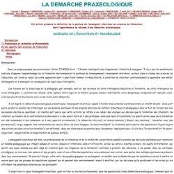 LA DEMARCHE PRAXEOLOGIQUE