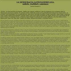 La democracia latinoamericana