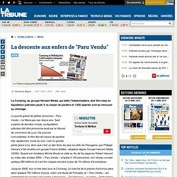 Paru Vendu, titre de la Comareg, fililale du groupe Hersant Media, au bord de la liquidation