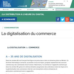 La digitalisation du commerce