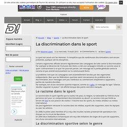 La discrimination dans le sport