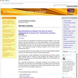 La documentation juridique