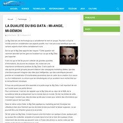 La dualité du Big Data : mi-ange, mi-démon