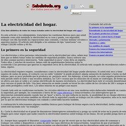 La electricidad y el cableado del hogar