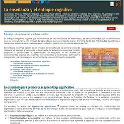 La enseñanza y el enfoque cognitivo