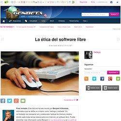 La ética del software libre