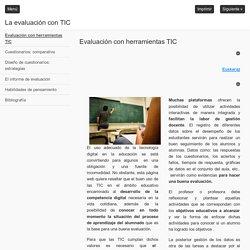 La evaluación con TIC