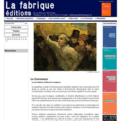 LA FABRIQUE EDITIONS