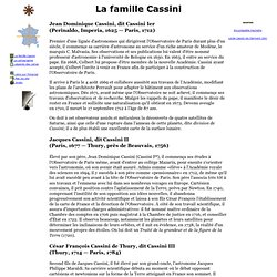 La famille Cassini