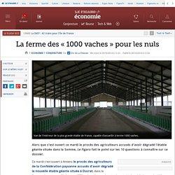 LE FIGARO 29/10/14 La ferme des « 1000 vaches » pour les nuls