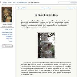 La fin de l'empire Inca