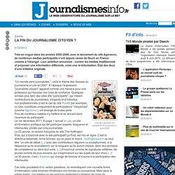 La fin du journalisme citoyen ?